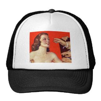 Retro Vintage Kitsch 30s Surreal Grab Hands Trucker Hat