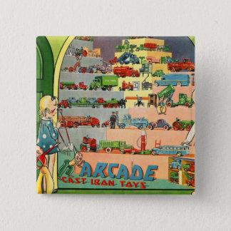 Retro Vintage Kitsch 30s Toy Arcade Cast Iron Toys Button