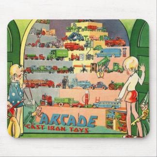 Retro Vintage Kitsch 30s Toy Arcade Cast Iron Toys Mouse Pad