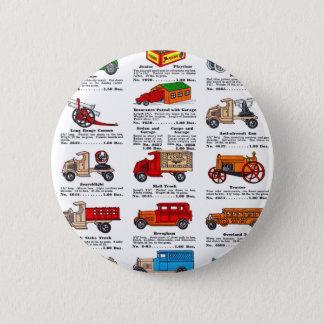 Retro Vintage Kitsch 30s Toy Catalog Cars & Trucks Button