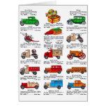 Retro Vintage Kitsch 30s Toy Catalog Cars & Trucks Greeting Card
