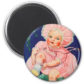 Retro Vintage Kitsch 30s Toy Doll Precious Magnet
