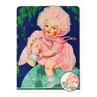 Retro Vintage Kitsch 30s Toy Doll Precious Postcard