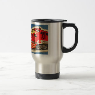 Retro Vintage Kitsch 30s Train Matchbook Art 15 Oz Stainless Steel Travel Mug