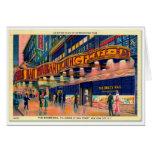 Retro Vintage Kitsch 40s Brass Rail New York Greeting Card