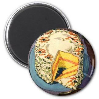 Retro Vintage Kitsch 40s Cake Art Two-Egg Cake Magnet