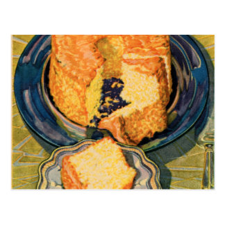 Retro Vintage Kitsch 40s Cakes Art Sunshine Cake Postcard