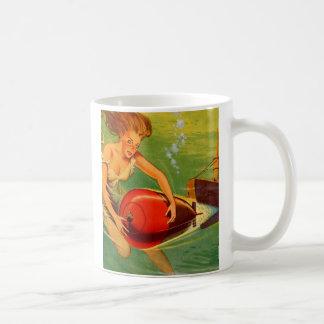 Retro Vintage Kitsch 40s Pulp Torpedo Caught! Coffee Mug