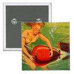 Retro Vintage Kitsch 40s Pulp Torpedo Caught! Pins