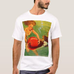 Retro Vintage Kitsch 40s Pulp Torpedo Caught! T-Shirt