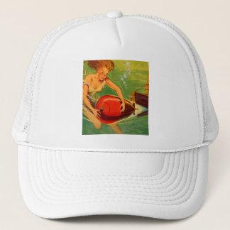 Retro Vintage Kitsch 40s Pulp Torpedo Caught! Trucker Hat