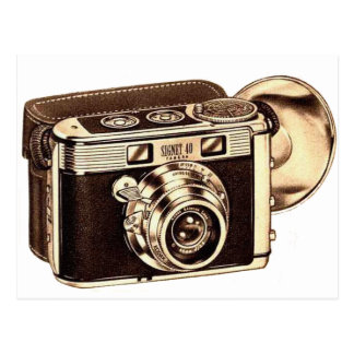 Retro Vintage Kitsch 50s 35mm Camera Post Cards