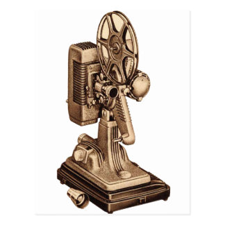 Retro Vintage Kitsch 50s 8mm Film Projector Postcard