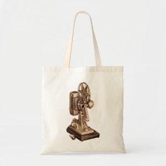 Retro Vintage Kitsch 50s 8mm Film Projector Tote Bag