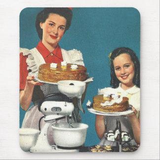 Retro Vintage Kitsch 50s Cookbook Homemaker Mouse Pad