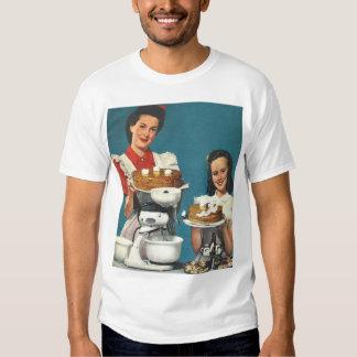 Retro Vintage Kitsch 50s Cookbook Homemaker T Shirt