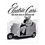 Retro Vintage Kitsch 50s Electric Car 3-Wheel Postcards
