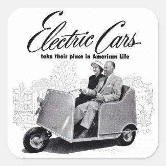 Retro Vintage Kitsch 50s Electric Car 3-Wheel Sticker