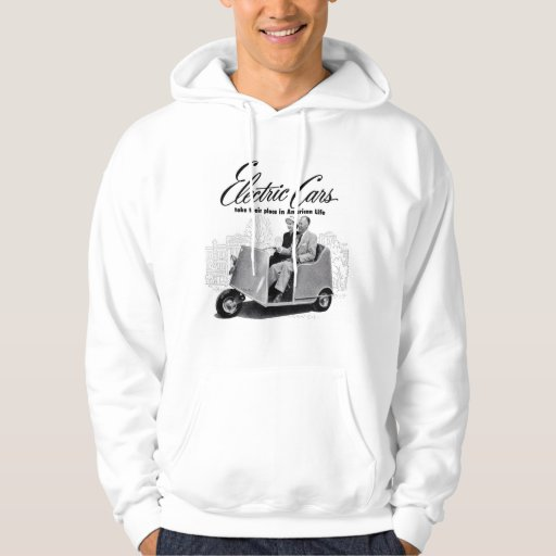 Retro Vintage Kitsch 50s Electric Car 3-Wheel Sweatshirt