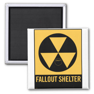 Retro Vintage Kitsch 50s Fallout Shelter Sign Magnet