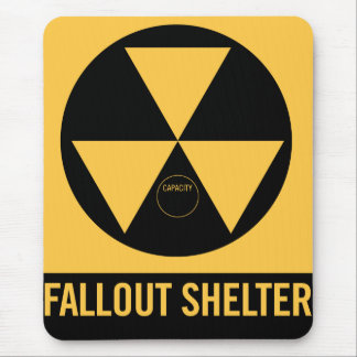 Retro Vintage Kitsch 50s Fallout Shelter Sign Mouse Pad