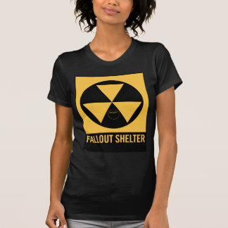 Retro Vintage Kitsch 50s Fallout Shelter Sign Shirt