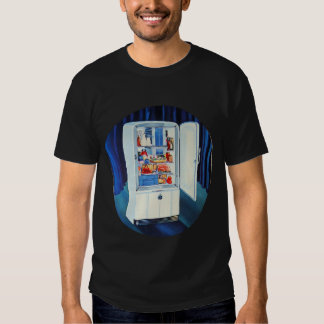 Retro Vintage Kitsch 50s Full Refrigerator Fridge Tee Shirts
