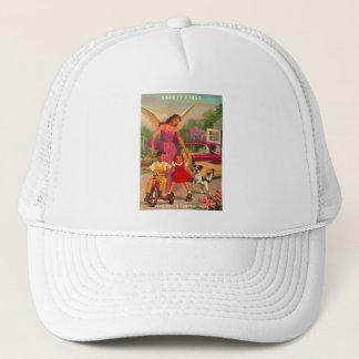 Retro Vintage Kitsch 50s Funeral Home Safety Card Trucker Hat