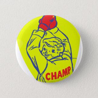 Retro Vintage Kitsch 50s Junior Boxing Champ Art Button