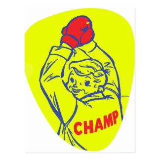 Retro Vintage Kitsch 50s Junior Boxing Champ Art Postcard