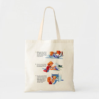 Retro Vintage Kitsch 50s Kids Recipe Cooking Tips Tote Bag