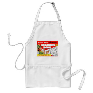 Retro Vintage Kitsch 50s Peter Ann Coloring Book Adult Apron