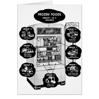 Retro Vintage Kitsch 50s Refrigerator Freezer Ad Greeting Card