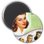 Retro Vintage Kitsch 50s Tintz Haircolor Ad Magnets