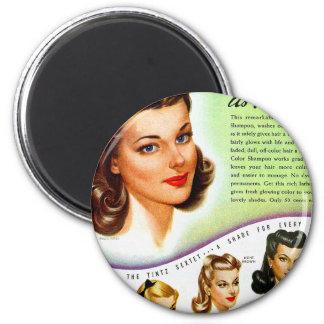 Retro Vintage Kitsch 50s Tintz Haircolor Ad Magnet