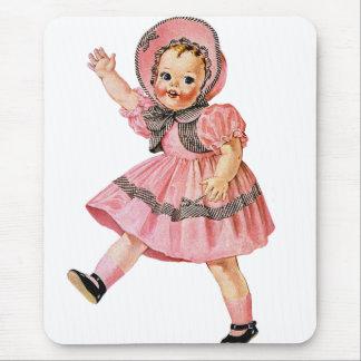 Retro Vintage Kitsch 50s Toy Doll 'Walks & Talks' Mouse Pad