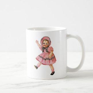 Retro Vintage Kitsch 50s Toy Doll 'Walks & Talks' Coffee Mugs
