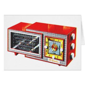 Retro Vintage Kitsch 50s Tymatic Clock Radio Set Card