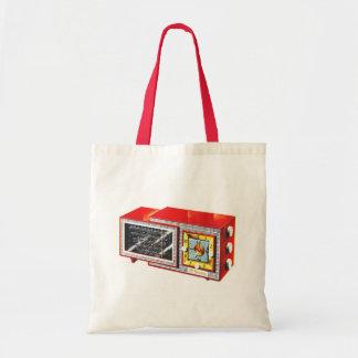 Retro Vintage Kitsch 50s Tymatic Clock Radio Set Tote Bag
