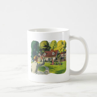 Retro Vintage Kitsch 50s Welcome Home House Ad Art Coffee Mug