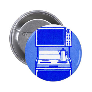 Retro Vintage Kitsch 60s Appliance Gas Range Oven Pinback Buttons