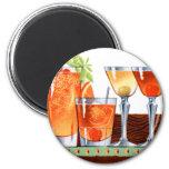 Retro Vintage Kitsch 60s Cocktails Drinks Martinis 2 Inch Round Magnet