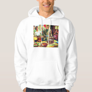 Retro Vintage Kitsch 60s Country Living Suburbs Hoodie