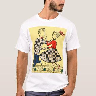 Retro Vintage Kitsch 60s Crossword Puzzle Kids T-Shirt