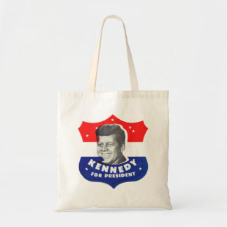 Retro Vintage Kitsch 60s Kennedy For President Tote Bag