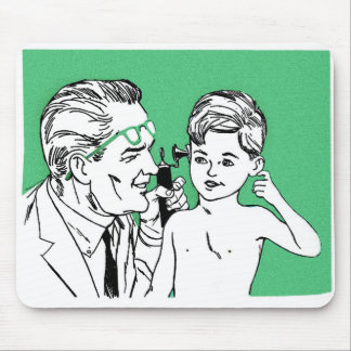 Retro Vintage Kitsch 60s Let's Visit The Doctor! Mouse Pad