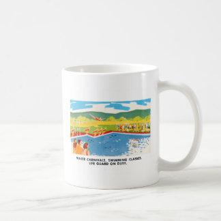 Retro Vintage Kitsch 60s Resort Ad Brochure Art Classic White Coffee Mug