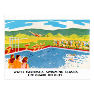 Retro Vintage Kitsch 60s Resort Ad Brochure Art Postcard