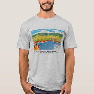 Retro Vintage Kitsch 60s Resort Ad Brochure Art T-Shirt