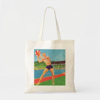 Retro Vintage Kitsch 60s Resort Ad Brochure Beach Budget Tote Bag